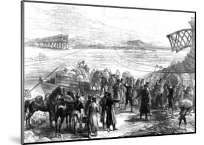 Crossing the Ebro at Castijon; War in Spain, 1875--Mounted Giclee Print