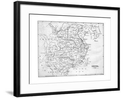 Map of China, 1847--Framed Giclee Print