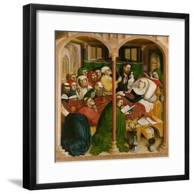 The Death of Mary. the Wings of the Wurzach Altar, 1437-Hans Multscher-Framed Giclee Print