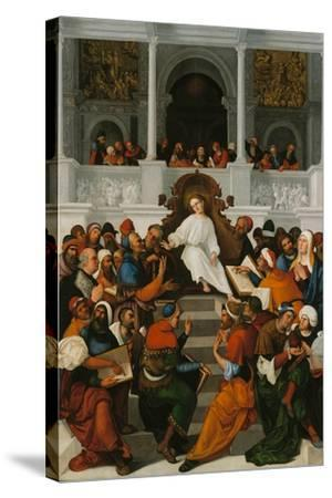 The Twelve-Year-Old Jesus Teaching in the Temple, 1524-Ludovico Mazzolino-Stretched Canvas Print