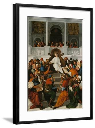 The Twelve-Year-Old Jesus Teaching in the Temple, 1524-Ludovico Mazzolino-Framed Giclee Print