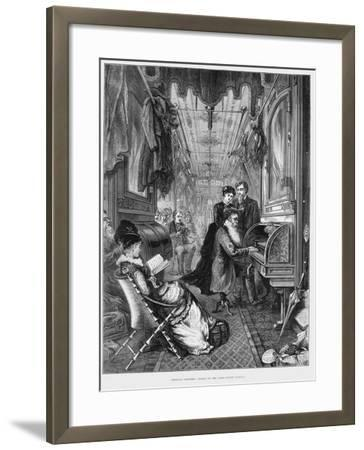 Sunday Morning on the Union Pacific Railroad, USA, 1875--Framed Giclee Print