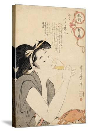 From the Series a Parent's Moralising Spectacles, 1802-Kitagawa Utamaro-Stretched Canvas Print