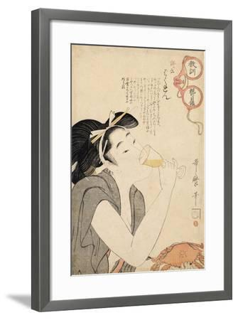 From the Series a Parent's Moralising Spectacles, 1802-Kitagawa Utamaro-Framed Giclee Print