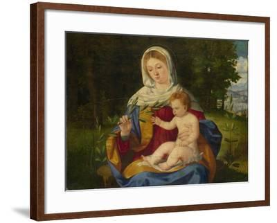The Virgin and Child with a Shoot of Olive, Ca 1515-Andrea Previtali-Framed Giclee Print