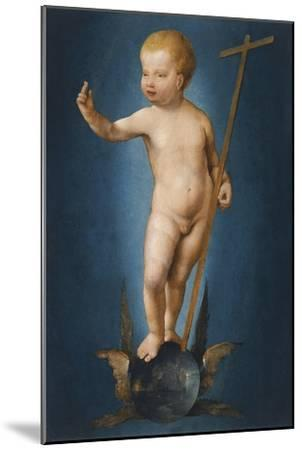 The Infant Christ on the Orb of the World, Ca 1530-Joos Van Cleve-Mounted Giclee Print