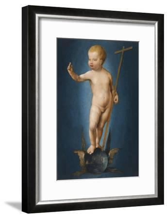 The Infant Christ on the Orb of the World, Ca 1530-Joos Van Cleve-Framed Giclee Print