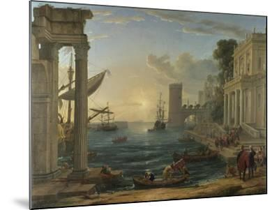 Seaport with the Embarkation of the Queen of Sheba, 1648-Claude Lorraine-Mounted Giclee Print