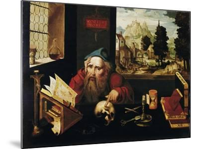 Saint Jerome in His Cell, 1520S-Joos Van Cleve-Mounted Giclee Print