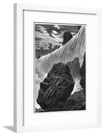 View of the Falls of Niagara, 1877--Framed Giclee Print