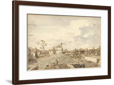 The Porta Portello with the Brenta Canal in Padua, 1740-1743-Canaletto-Framed Giclee Print
