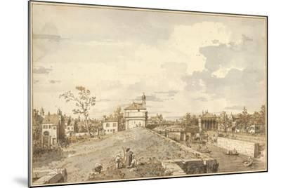 The Porta Portello with the Brenta Canal in Padua, 1740-1743-Canaletto-Mounted Giclee Print