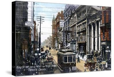 Looking West Along King Street, Toronto, Canada, C1900s--Stretched Canvas Print