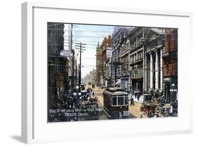Looking West Along King Street, Toronto, Canada, C1900s--Framed Giclee Print
