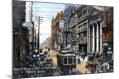Looking West Along King Street, Toronto, Canada, C1900s--Mounted Giclee Print