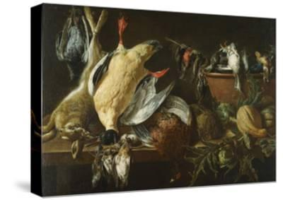 Still Life with Games and Vegetables, 1648-Adriaen van Utrecht-Stretched Canvas Print