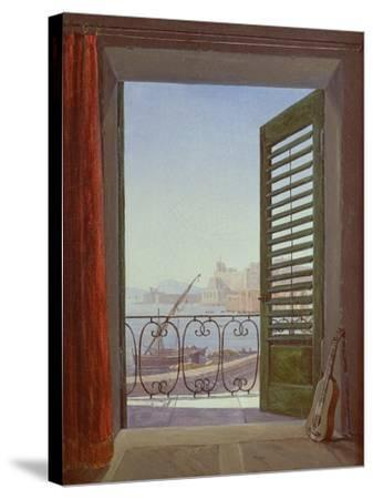 Balcony Room with a View of the Bay of Naples, C. 1829-Carl Gustav Carus-Stretched Canvas Print