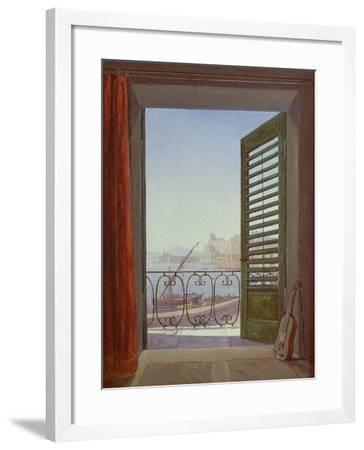 Balcony Room with a View of the Bay of Naples, C. 1829-Carl Gustav Carus-Framed Giclee Print