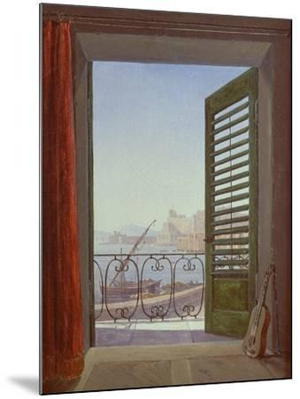 Balcony Room with a View of the Bay of Naples, C. 1829-Carl Gustav Carus-Mounted Giclee Print