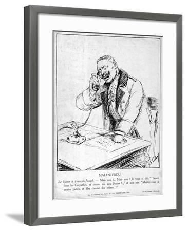 Misunderstanding, Caricatures of Guillaume II of Germany, 1915--Framed Giclee Print