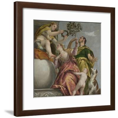 Happy Union (From: Four Allegories of Lov), Ca. 1575-Paolo Veronese-Framed Giclee Print