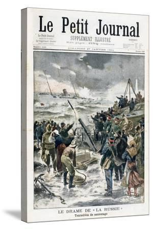 Attempts at Rescue, 1901--Stretched Canvas Print
