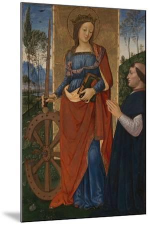 Saint Catherine of Alexandria with a Donor, C. 1480-Bernardino Pinturicchio-Mounted Giclee Print