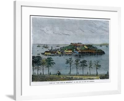 View of the Isle of Serpents, in the Bay of Rio De Janeiro, Brazil, C1880--Framed Giclee Print