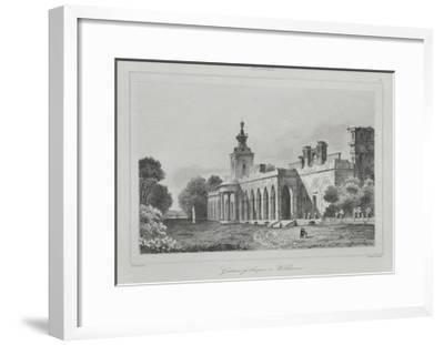 View of the Gothic Gallery in the Wilanów Palace, 1840-Augustin François Lemaitre-Framed Giclee Print