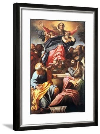 The Assumption of the Blessed Virgin Mary, 1600-1601-Annibale Carracci-Framed Giclee Print