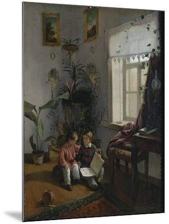 In the Room. Young Boys Looking at Book, 1854-Ivan Phomich Khrutsky-Mounted Giclee Print