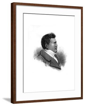 Rhio Rhio, King of the Sandwich Islands, C1824--Framed Giclee Print