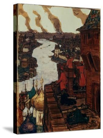 Tatars are Coming! End of XIVth Century, 1909-Appolinari Mikhaylovich Vasnetsov-Stretched Canvas Print