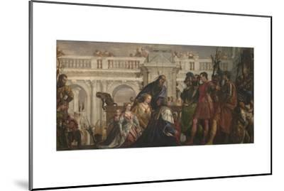 The Family of Darius before Alexander, C. 1565-Paolo Veronese-Mounted Giclee Print