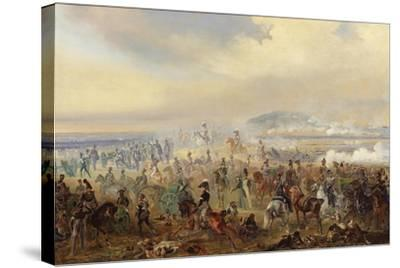 The Battle of Leipzig in October 1813, 1886-Gottfried Willewalde-Stretched Canvas Print