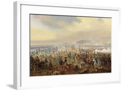 The Battle of Leipzig in October 1813, 1886-Gottfried Willewalde-Framed Giclee Print