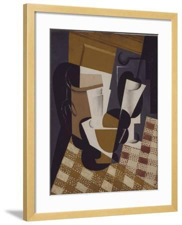 Wine Jug and Glass, 1916-Juan Gris-Framed Giclee Print
