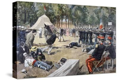 French Military Manoeuvres: First-Aid Workers, 1897--Stretched Canvas Print