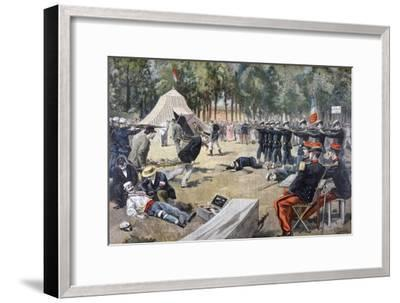 French Military Manoeuvres: First-Aid Workers, 1897--Framed Giclee Print
