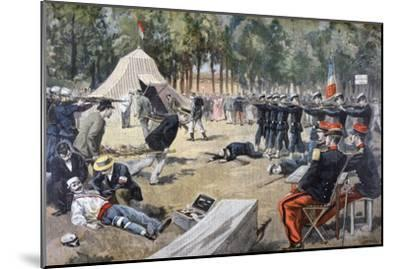French Military Manoeuvres: First-Aid Workers, 1897--Mounted Giclee Print