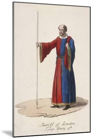 A Sheriff of London, Dressed in Early Fifteenth Century Civic Costume and Holding a Staff, C1830--Mounted Giclee Print