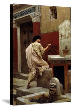 At a Wall, Pompeii-Stepan Vladislavovich Bakalowicz-Stretched Canvas Print