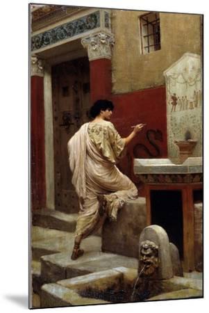 At a Wall, Pompeii-Stepan Vladislavovich Bakalowicz-Mounted Giclee Print