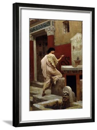 At a Wall, Pompeii-Stepan Vladislavovich Bakalowicz-Framed Giclee Print