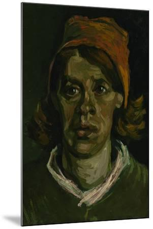 Head of a Peasant Woman with Red Hood, 1885-Vincent van Gogh-Mounted Giclee Print