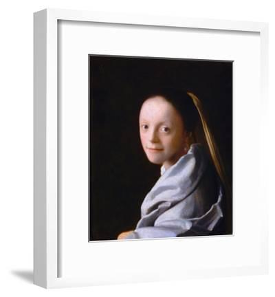 Study of a Young Woman, Ca. 1665-1667-Johannes Vermeer-Framed Giclee Print