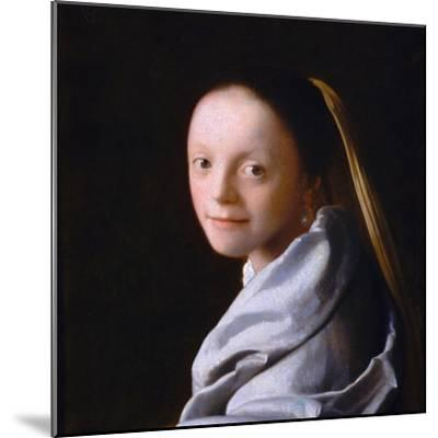 Study of a Young Woman, Ca. 1665-1667-Johannes Vermeer-Mounted Giclee Print