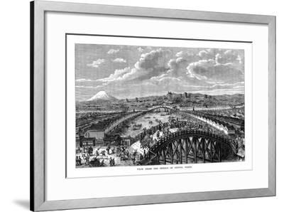 View from the Bridge of Nippon, Tokyo, Japan, 1877--Framed Giclee Print