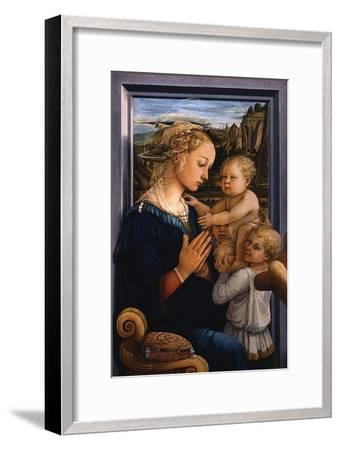 Madonna and Child with Two Angels, 1460S-Fra Filippo Lippi-Framed Giclee Print