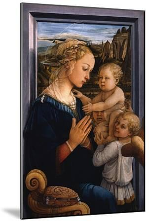Madonna and Child with Two Angels, 1460S-Fra Filippo Lippi-Mounted Giclee Print